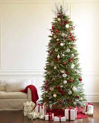 by black green red and white decorated christmas trees tree with