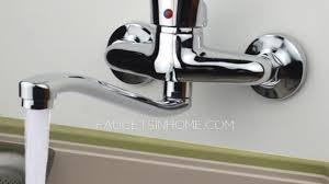 wall mount single handle kitchen faucet inspiring wall mount kitchen faucet of chrome finish single handle