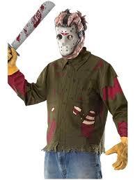 jason mask halloween jason voorhees shirt and mask costume green fancy dress