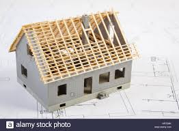 small house under construction on electrical drawings for project