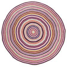 kinderzimmer teppich rund bunter runder strickteppich für kinder kaufen