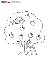 apple tree with bird u0027s nest coloring pages pinterest apple