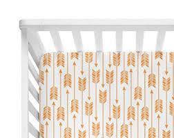 Organic Crib Bedding by Arrow Crib Sheet Etsy