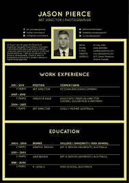 free professional resume format free black resume cv design template for director