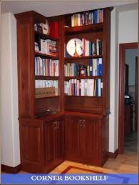 Dark Cherry Bookshelf Wood Corner Bookcase U2013 Smartonlinewebsites Com