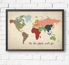 World Map For Kids Vintage World Map World Map Poster Size A1 A2 A3 A4 World