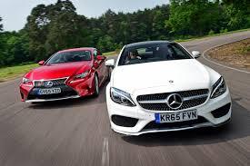 the rc 300h is set mercedes c class coupe vs lexus rc auto express