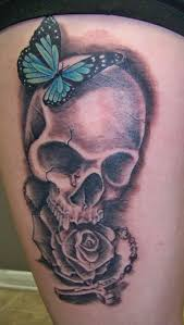 skull with and butterfly binge thinking