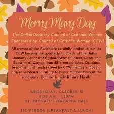 merry day council of catholic ccw st michael the