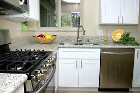 Contemporary Kitchen Cabinet Hardware Contemporary Kitchen With Complex Granite U0026 Inset Cabinets In