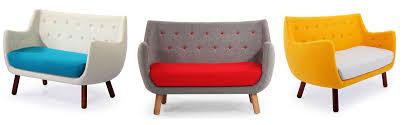 parlor sofa loveseat mid century modern