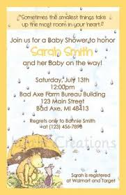 baby shower invitations free classic winnie pooh baby shower