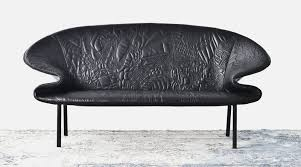 Unique Leather Sofa Unique Leather Sofa With Interesting Doodle On Its Surface