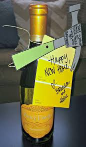housewarming gift ideas housewarming gift idea a bottle of wine and a note that reads