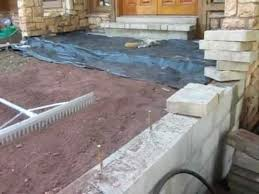 Make Your Own Patio Pavers Installing Pavers Front Porch Concrete Part 1 Landscapers In