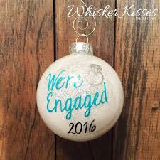 personalized ornaments wedding engagement christmas ornament glitter ornament personalized