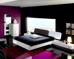 accessories delightful black white and purple bedroom ideas
