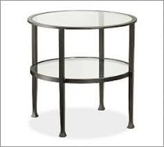 small round glass end table foter
