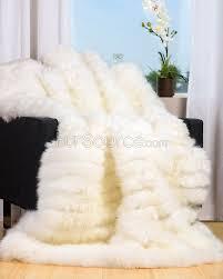 Lambskin Rugs Ivory White Sheepskin Fur Blanket Throw Fursource Com