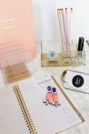 Lucite Desk Accessories Jws Interiors Glam Diy Lucite And Gold Desk Accessories With