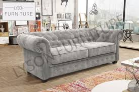 3 Seater 2 Seater Sofa Set Chesterfield Imperial 3 Or 2 Seater Sofa Set Suite Fabric Grey