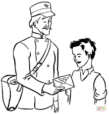 mailman coloring page free printable coloring pages