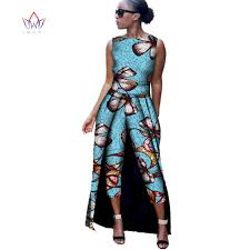 jumpsuit for brw 2017 fashion africa cotton print romper bazin