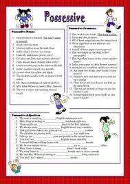 their wedding possessive adjectives esl worksheets of the day
