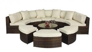 monaco rattan garden furniture semi circle sofa set