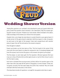 wedding shower family feud printable game bachelorette