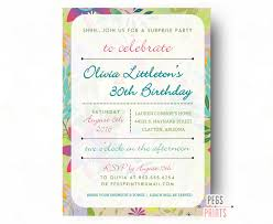 tropical surprise birthday party invitation surprise 30th