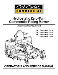 cub cadet tank m60 kh service manual