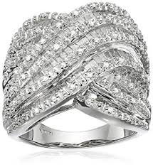 baguette diamond band sterling silver and baguette diamond band 1 2