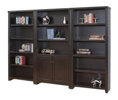 Storage Bookcase With Doors Martin Furniture Tribeca Loft Black Library Bookcase