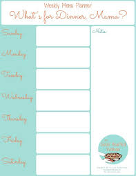 free blank menu template 25 unique printable menu ideas on menu planner