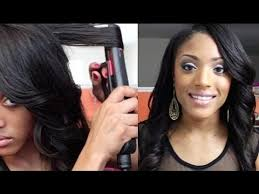 how to make flicks with a hair straightener how to curl your hair with flat iron straightener youtube