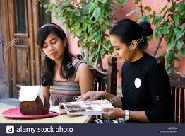 local mexican girls at a restaurant in the baja california sur