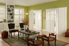 extraordinary home design with sliding door and blinds decorating