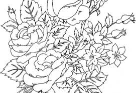 adults flowers coloring free download
