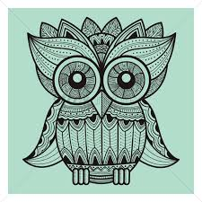 Decorative Owls by Intricate Owl Design Vector Image 1544106 Stockunlimited