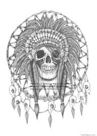 native american skull tattoo with roses on arm photo 3 photo