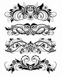 vector floral ornaments vector free vector in ai eps