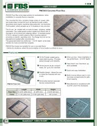 Floor Box by Pmc50 Floor Box Fbs Floor Box Systems Pdf Catalogues