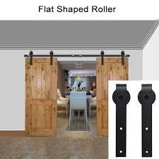 Metal Sliding Barn Doors Modern Stainless Steel Sliding Barn Door Hardware Track Set