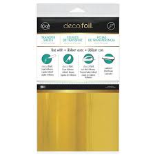 deco foil therm o web icraft deco foil gold 6 x 12 transfer sheet 20 pack