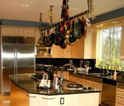 Kitchen Hanging Pot Rack by Hanging Kitchen Racks For Pots And Pans Ways To Hang Pots And