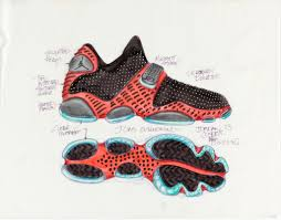 drawing concept design for air jordan xiii sneaker 1996