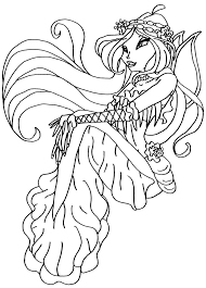 winx colouring pictures art coloring