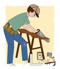 Contractor A Working Carpenter Builder Or General Contractor With A