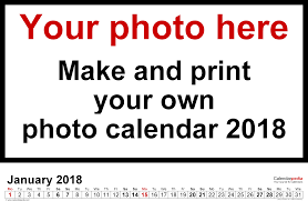 create your own planner template photo calendar 2018 free printable word templates template 5 photo calendar 2018 for word 12 pages landscape format